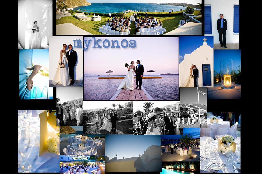 ''beach wedding mykonos''