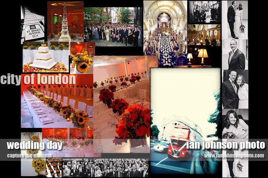 '' london wedding St Brides ''