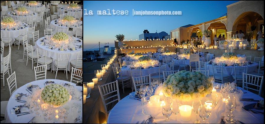 ''santorini candle light wedding ''